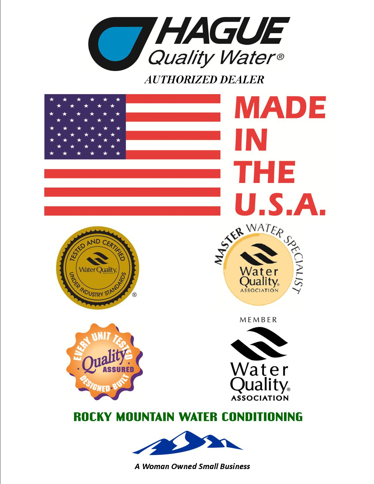 Completely manufactured and assembled - 100% Made In America