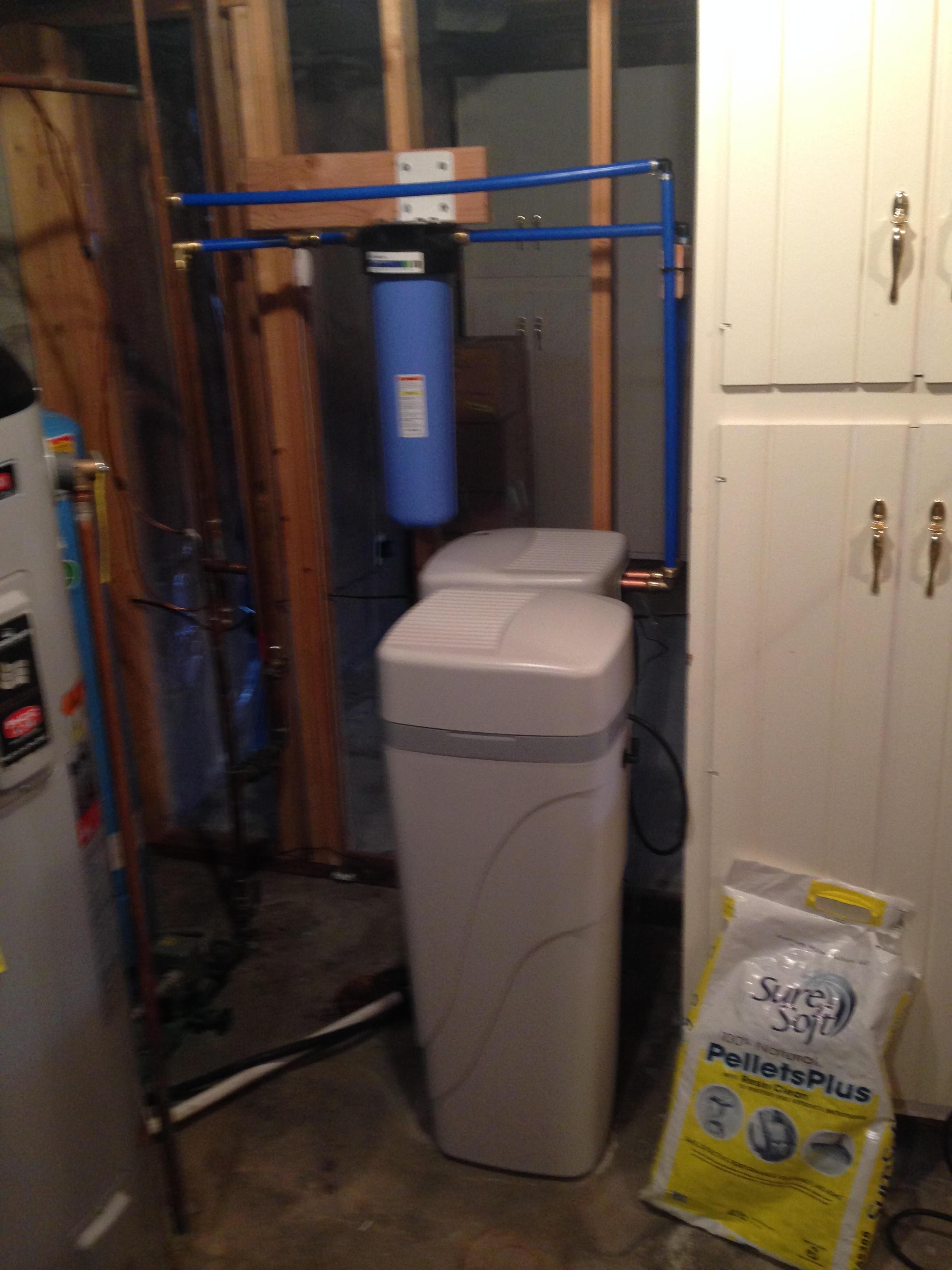 Water treatment system to treat uranium radon sediment hardness in Evergreen